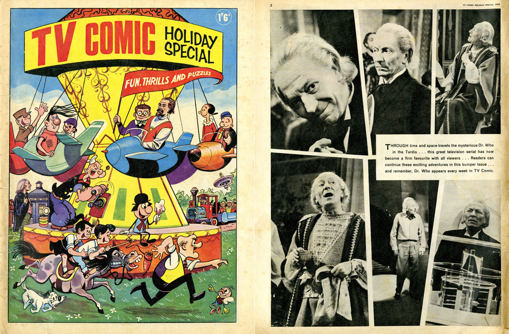 TV Comic Holiday Special 1965 (cover and page of William Hartnell photos; also includes Doctor Who comic strips)
