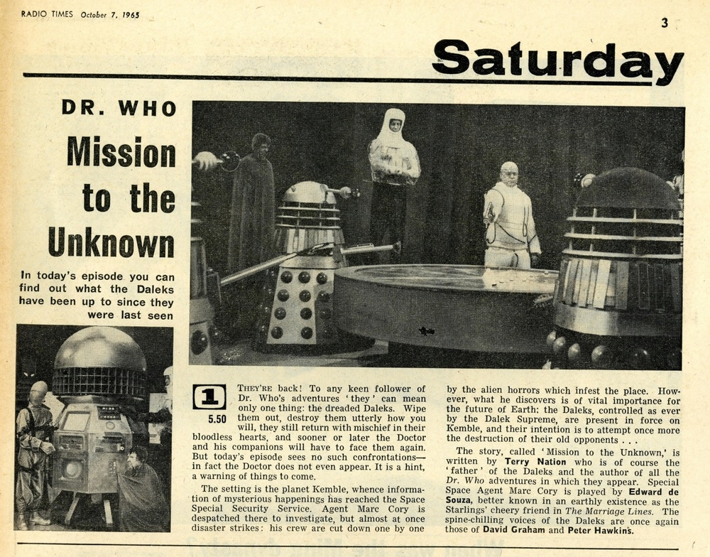 Radio Times, October 9-15, 1965