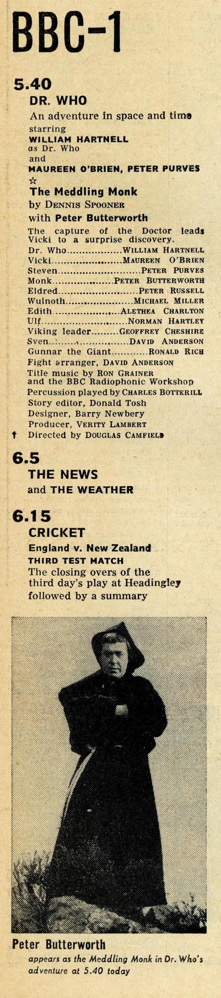 Radio Times, July 10-16, 1965