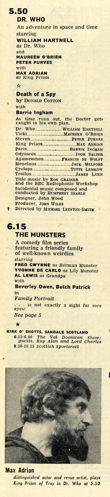 Radio Times, October 30 - November 5, 1965
