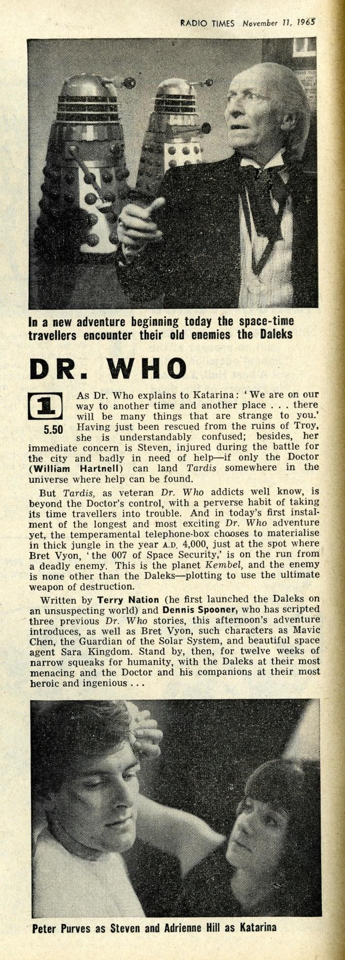 Radio Times, November 13-19, 1965