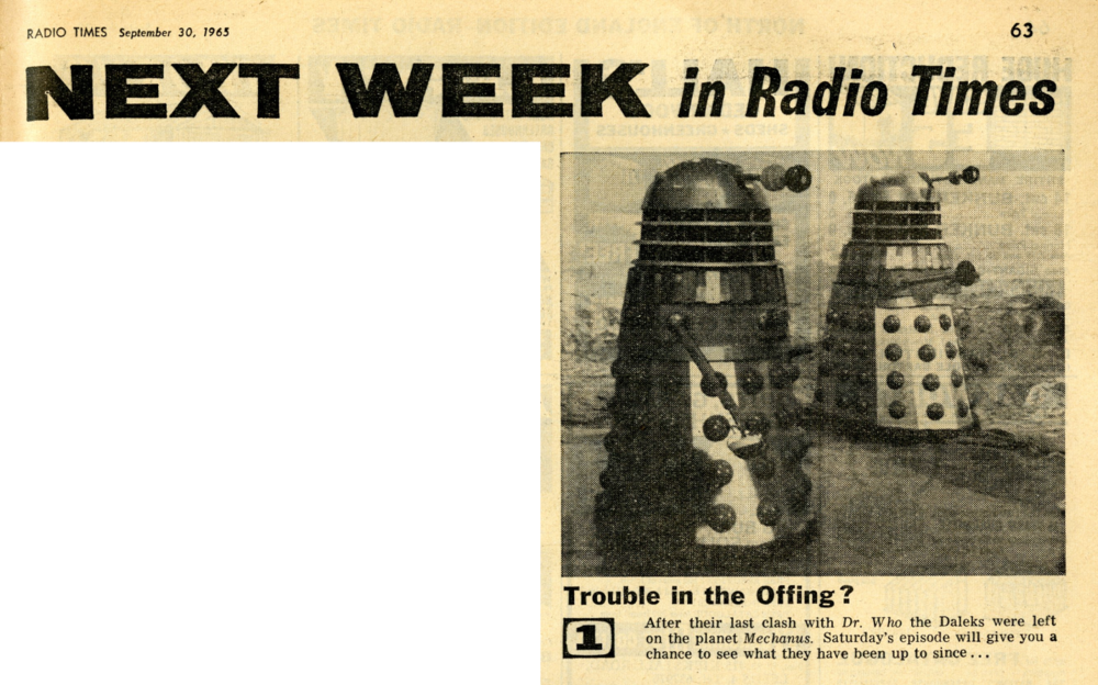 Radio Times, October 2-8, 1965