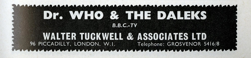 License applications ad. from Walter Tuckwell & Associates in Games and Toys, January 1965