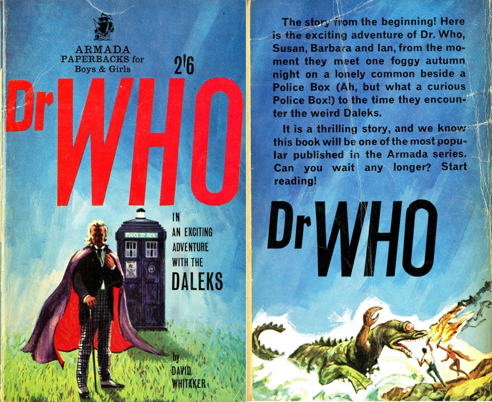 "Armada Paperbacks, Mayfair Books Ltd., Dr Who ""In An Exciting Adventure With The Daleks,"" by David Whitaker"