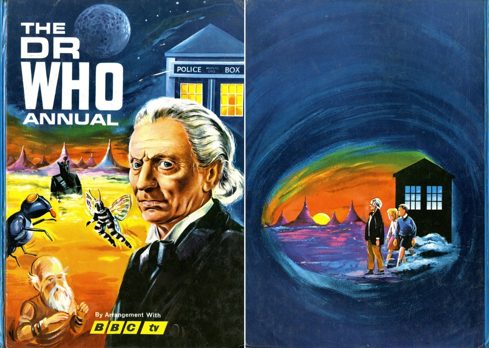 Front and back covers of the first Dr Who Annual from World Distributers
