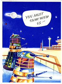 One of four Dalek birthday cards from Newton Mills Ltd.