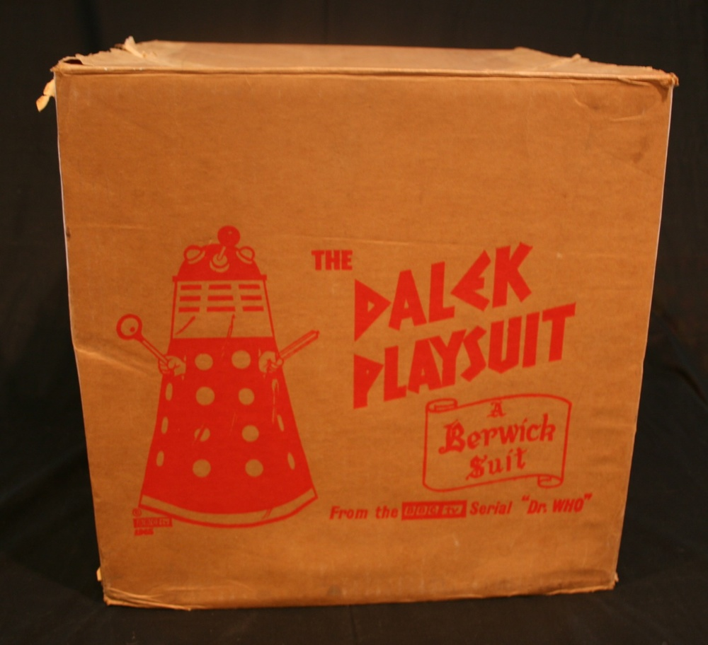 Berwick's Toy Company Ltd., Dalek Playsuit outer packaging
