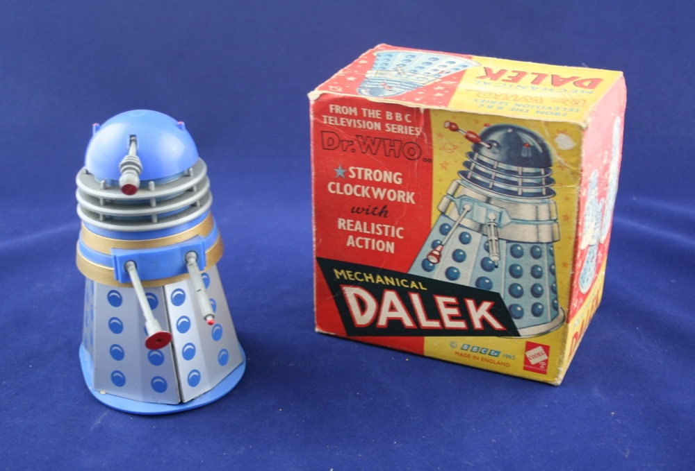 Codeg Toys, Blue Mechanical Dalek, from Cowan, de Groot