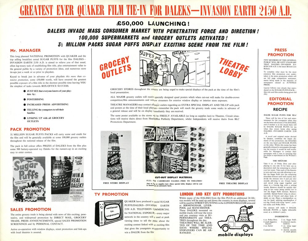 BLC Films Campaign Book illustrating the Sugar Puffs promotion