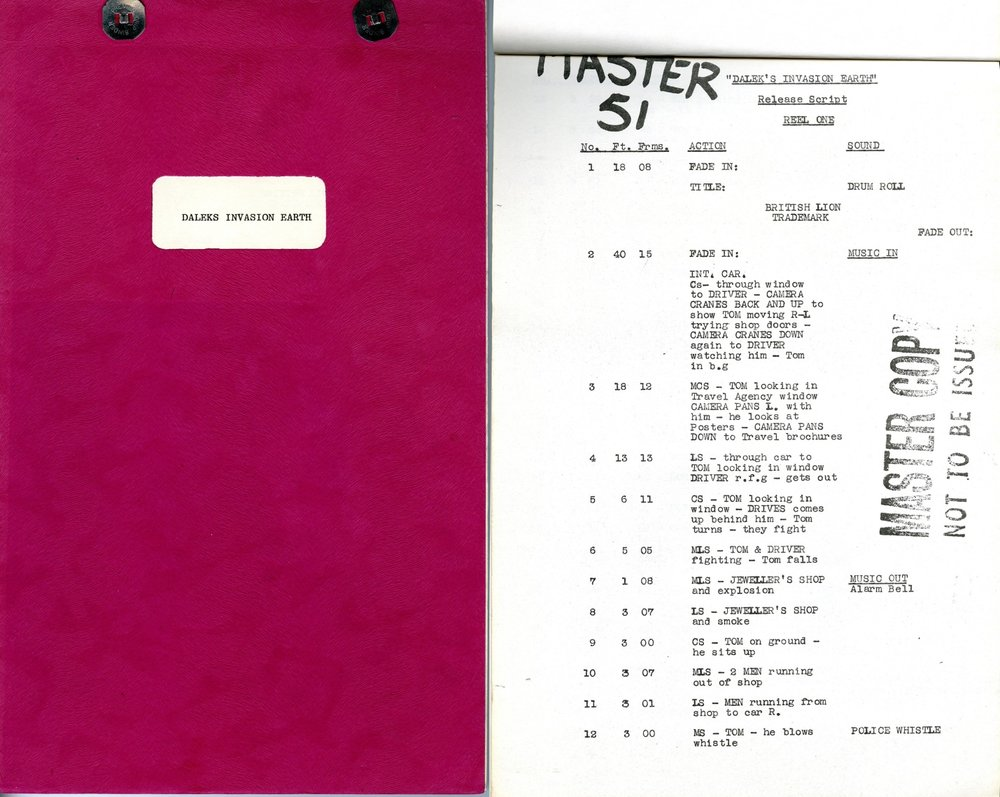 Film Script cover and title page