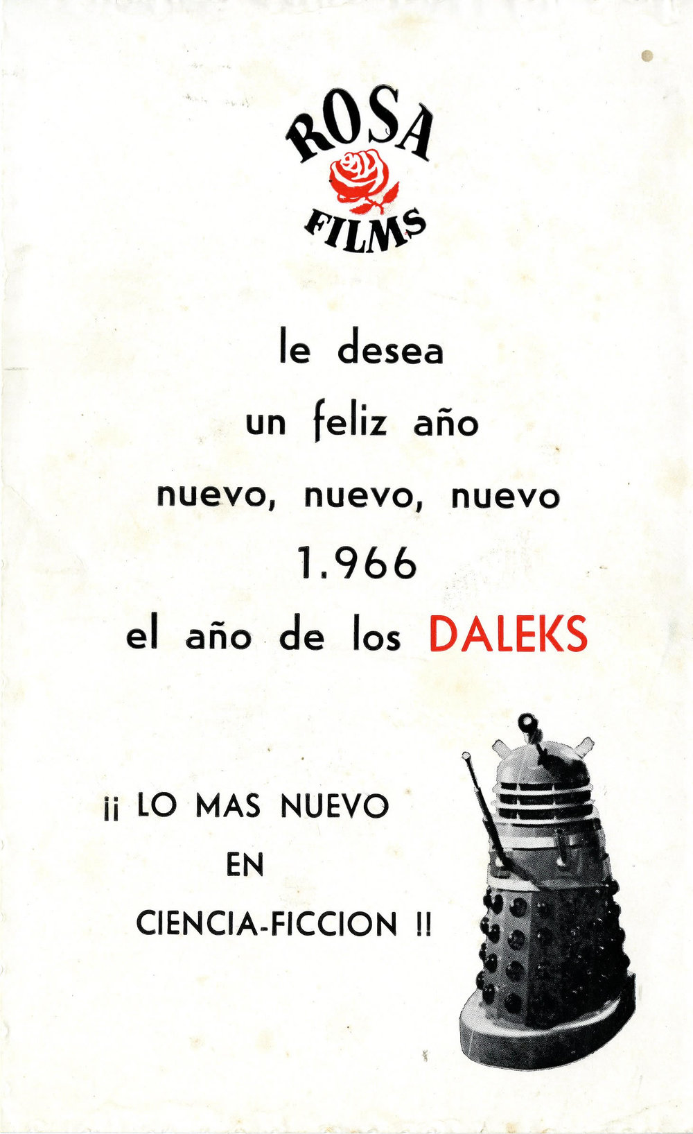 Spanish promotional flier
