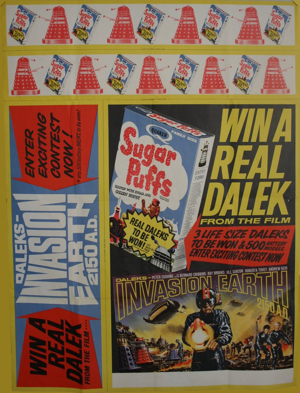Sugar Puffs Win a Dalek promotional poster (complete, uncut)