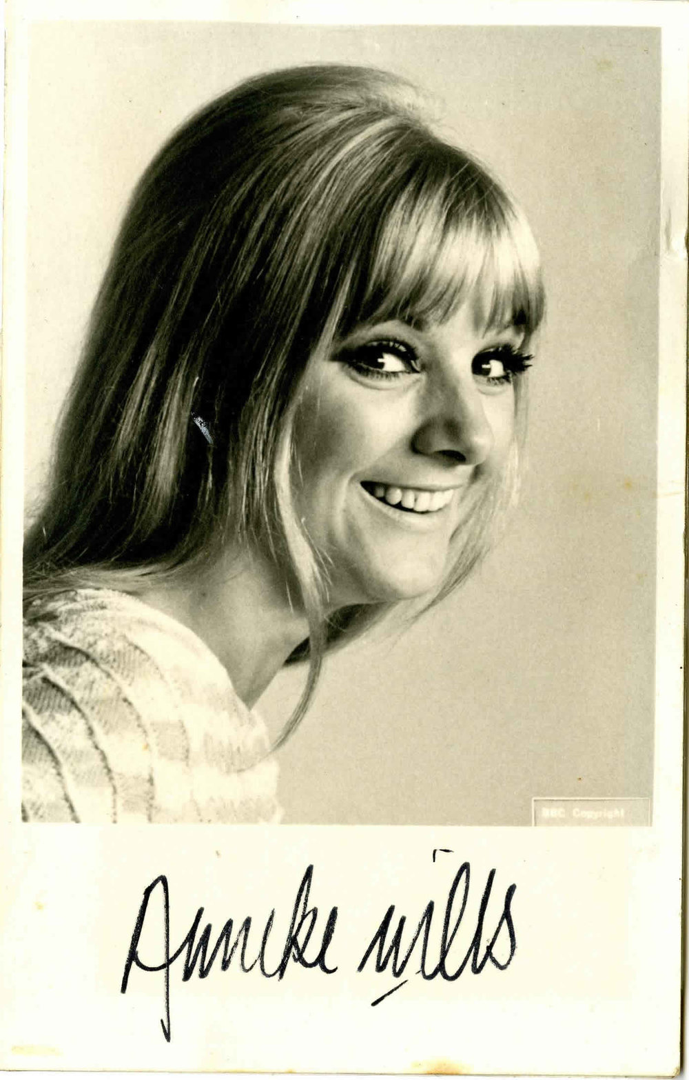 BBC Cast Card of Anneke Wills as Polly