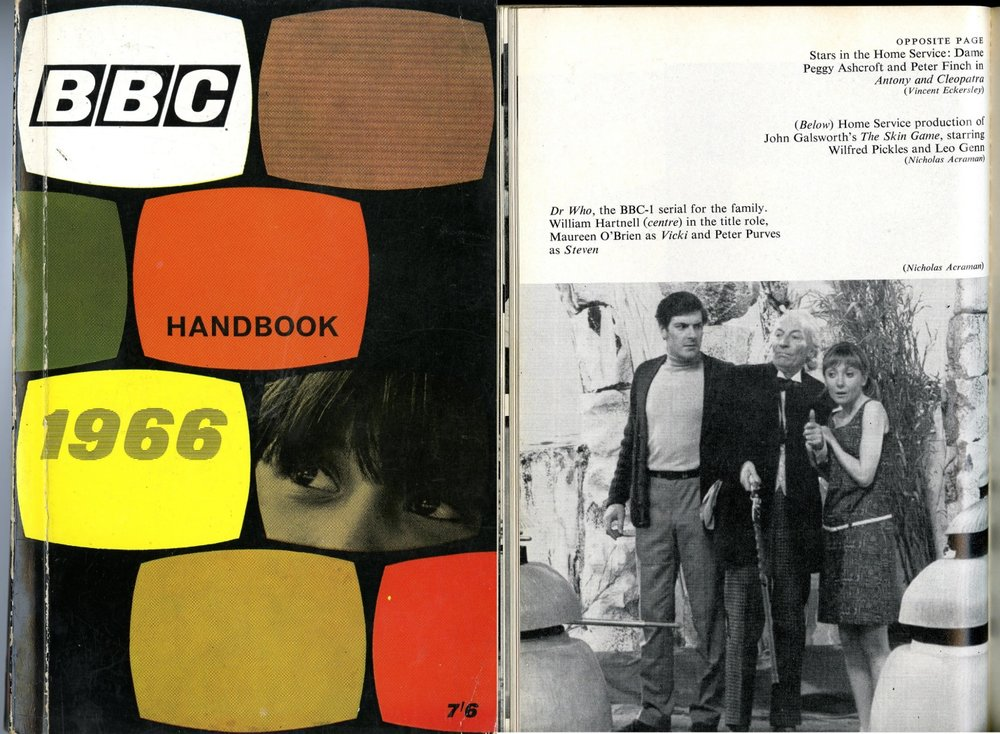 BBC Handbook 1966 including a photograph from Galaxy 4