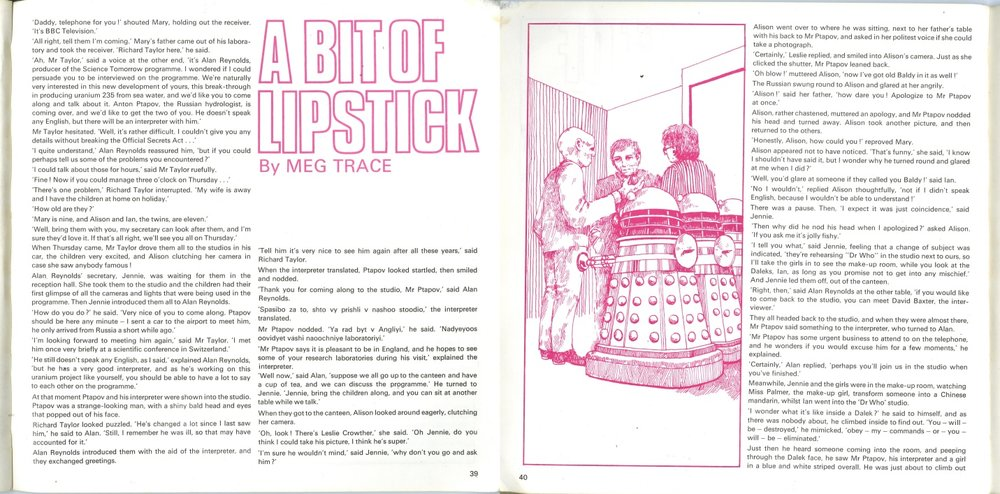 Story in the BBC Book of Crackerjack featuring a Dalek