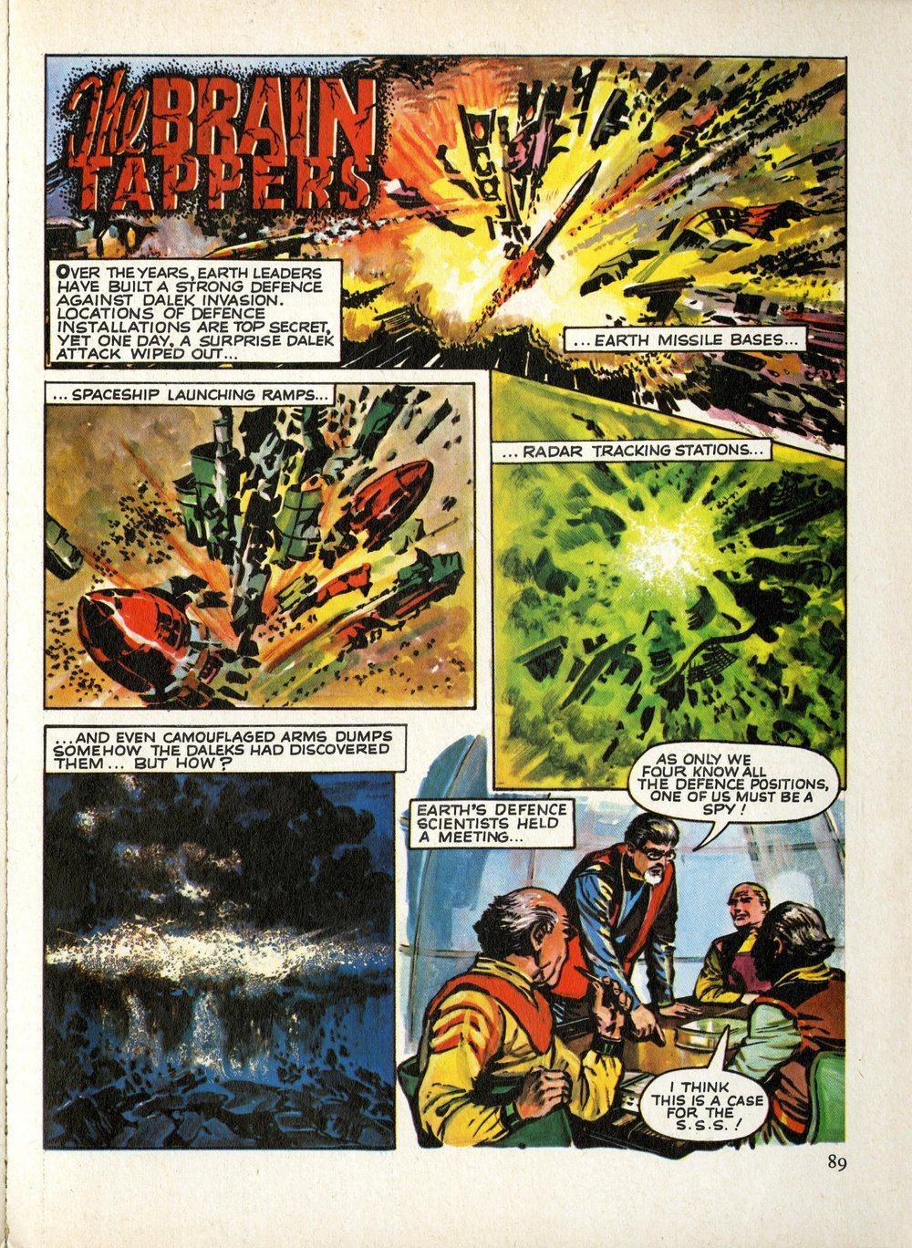 The Brain Tappers strip as published in The Dalek Outer Space Book