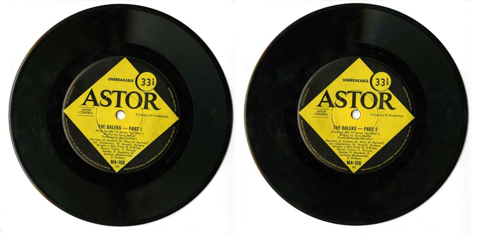 Century 21 Records, The Daleks 33 RPM Mini Album, pressed by Astor Records (Australia), sides A & B