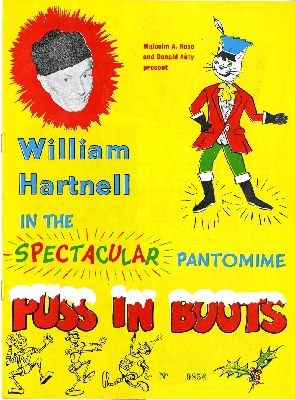 Puss in Boots starring William Hartnell programme cover