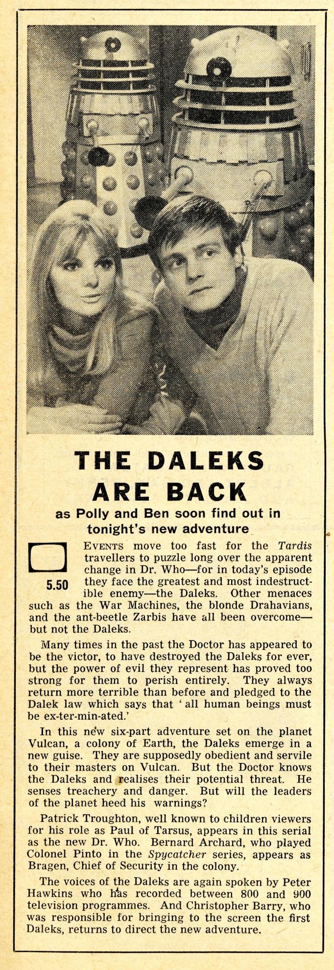 Radio Times, 5-11 November 1966