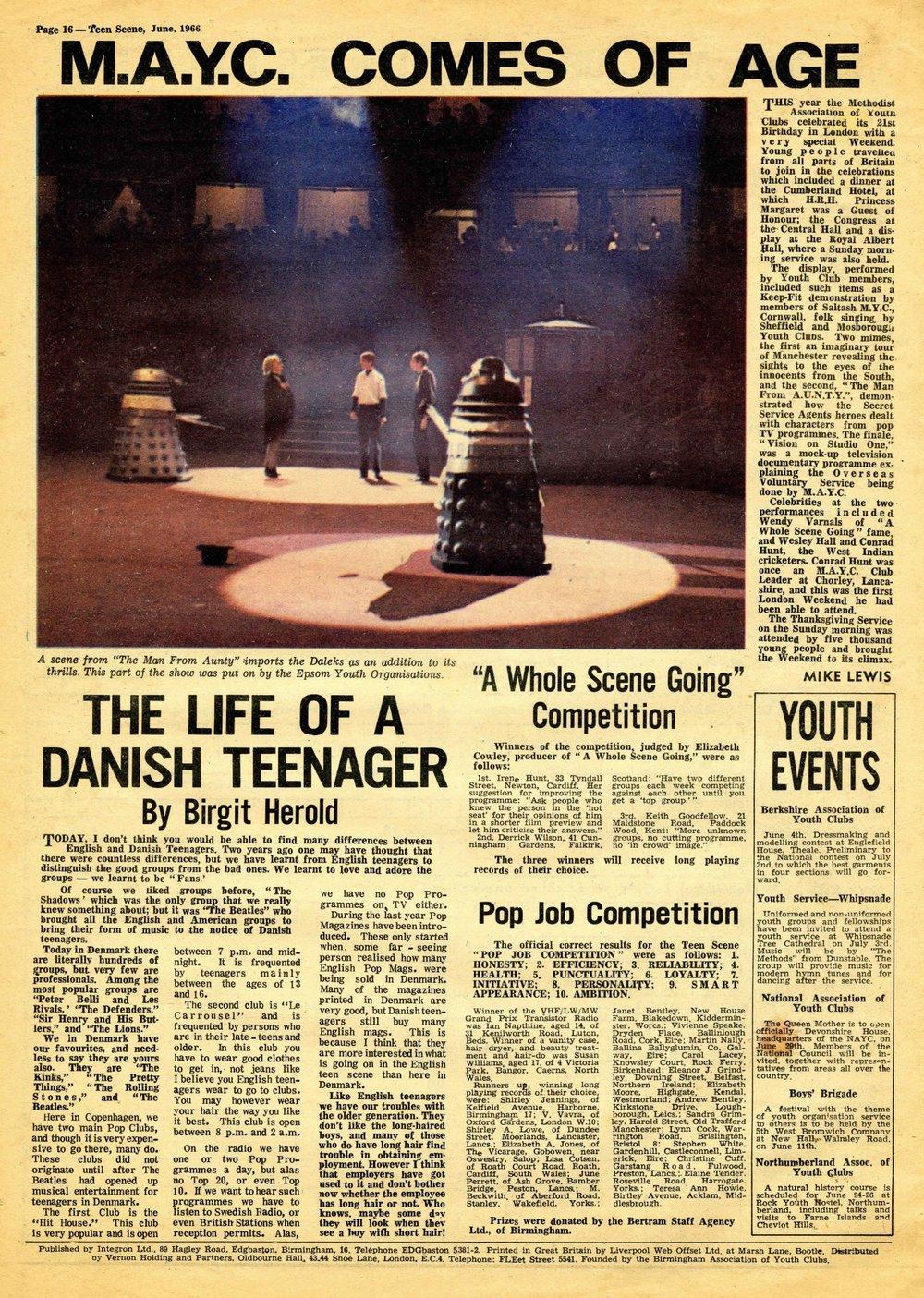 Teen Scene, June 1966