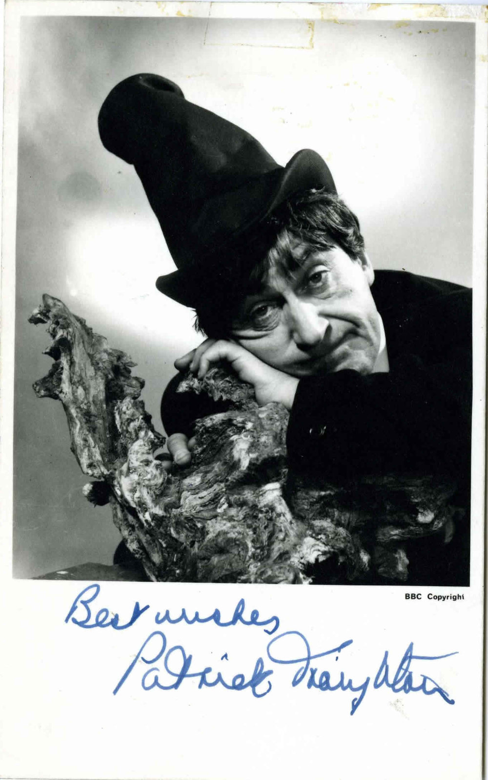 BBC Cast Card of Patrick Troughton as the Doctor