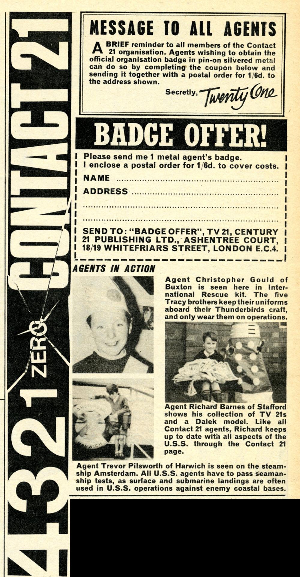 TV Century 21, no. 96, 19 November 2066 (1966)