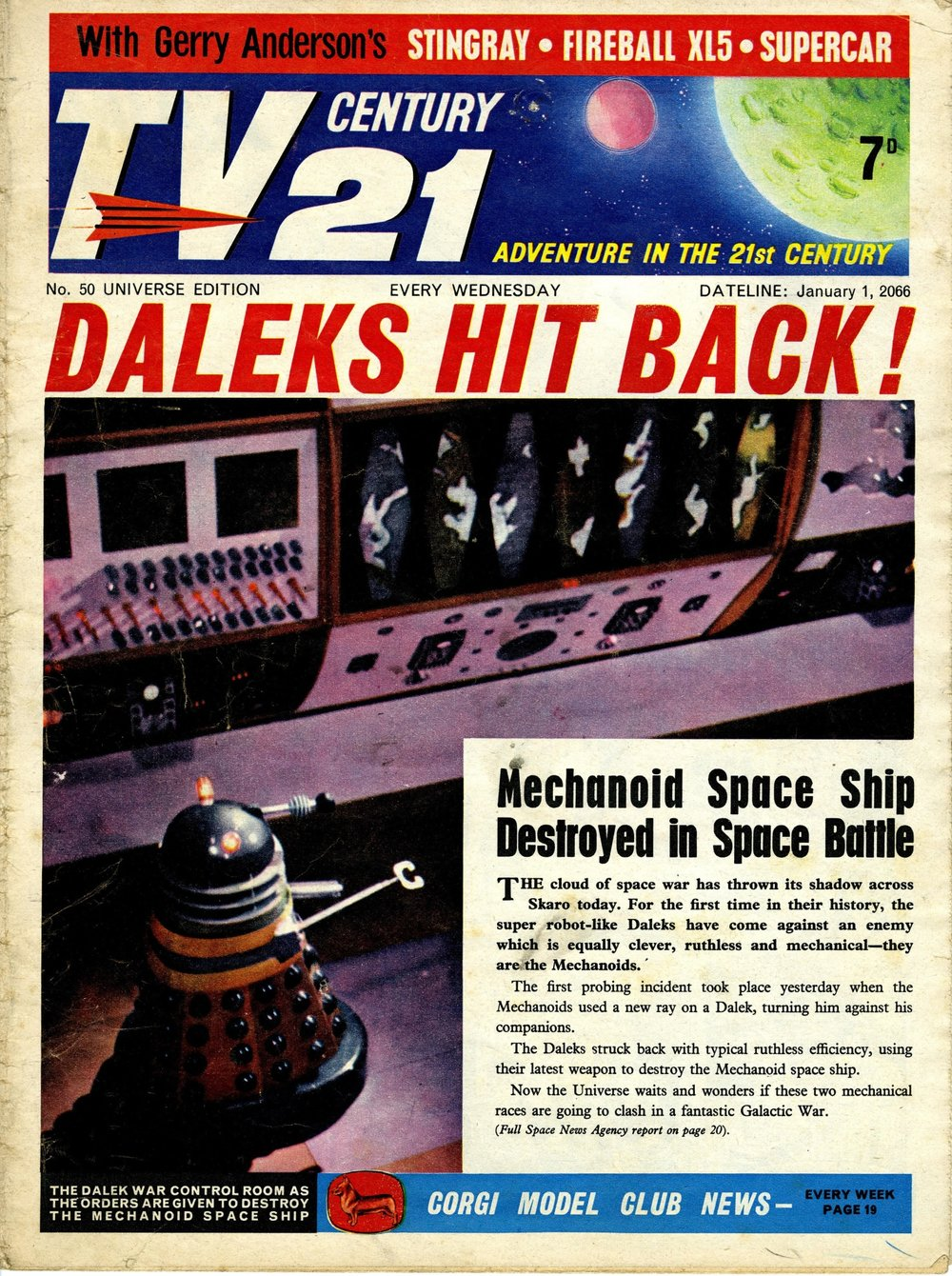 TV Century 21, no. 50, 1 January 2066 (1966)