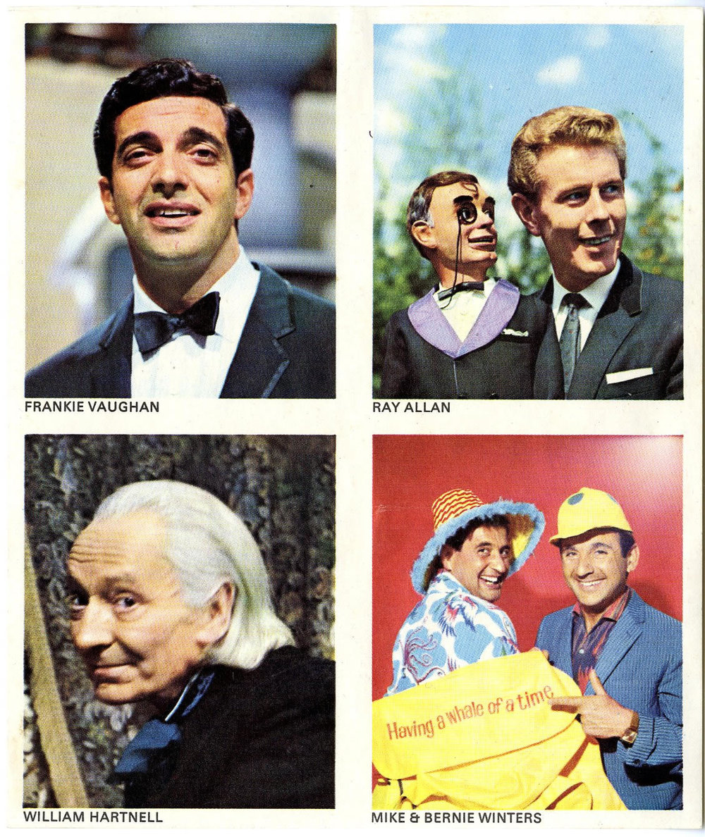 William Hartnell sticker on uncut sheet given free with TV Comic, no. 738, 5 February 1966