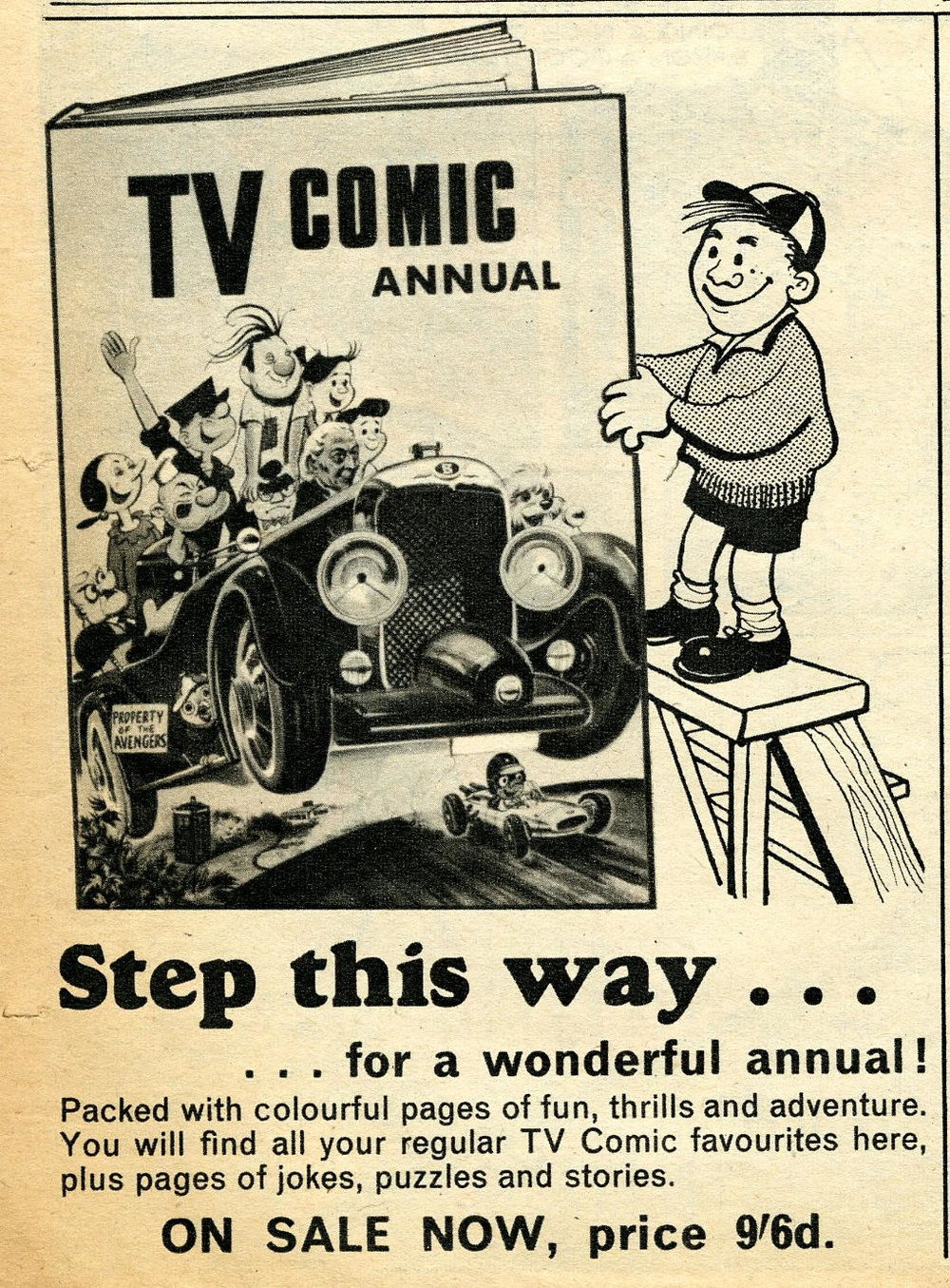 Ad for the TV Comic Annual 1967 in TV Comic, no. 770, 17 September 1966