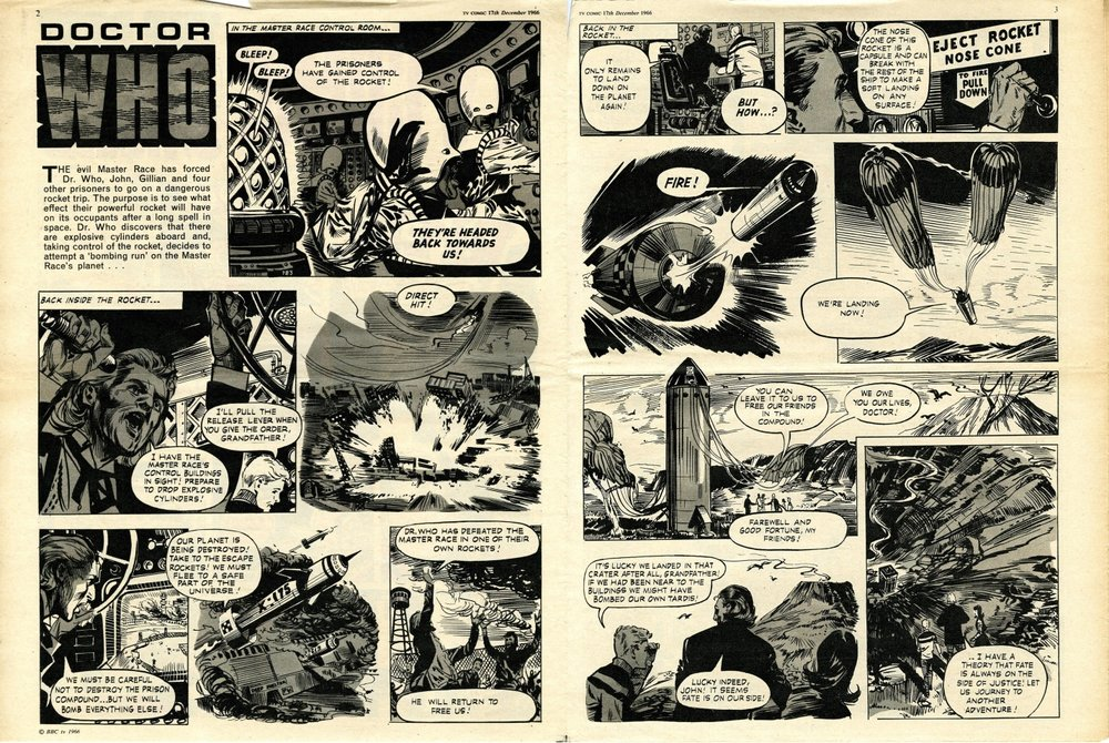 Final William Hartnell strip in TV Comic, no. 783, 17 December 1966