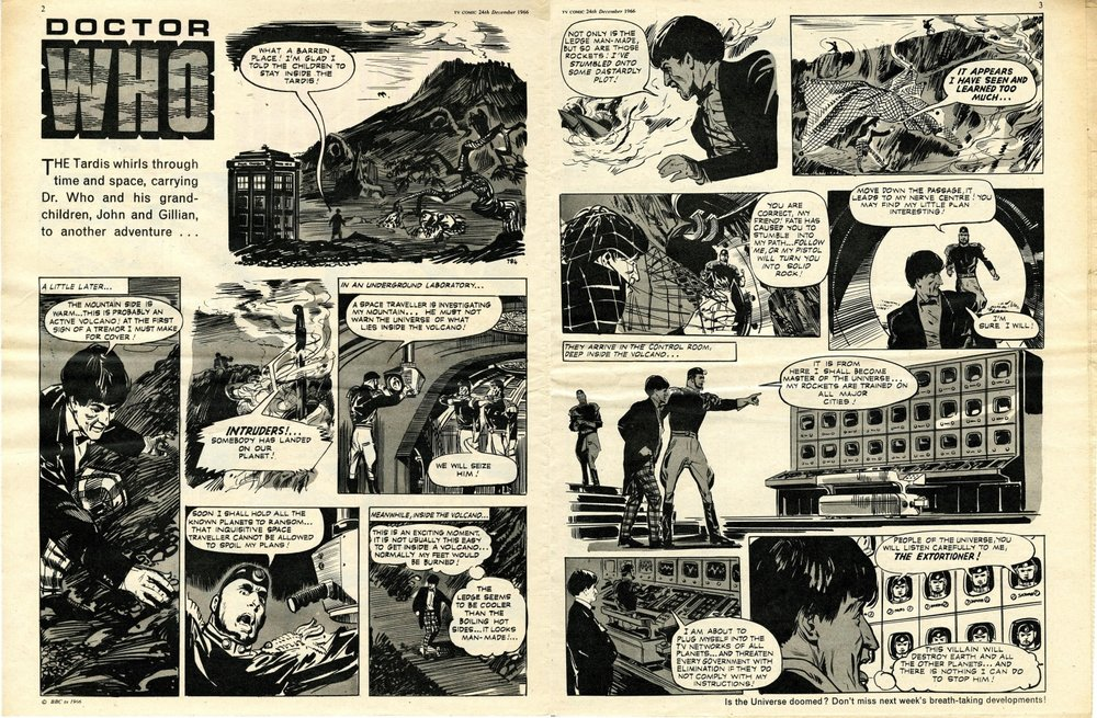 First Patrick Troughton strip in TV Comic, no. 784, 24 December 1966
