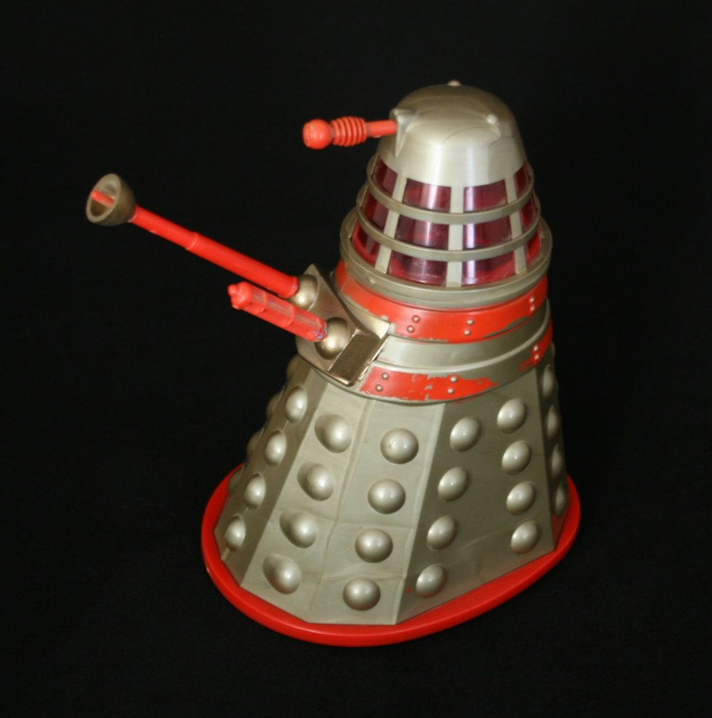 Louis Marx and Company Ltd., prototype large friction-drive Dalek in gold and red.
