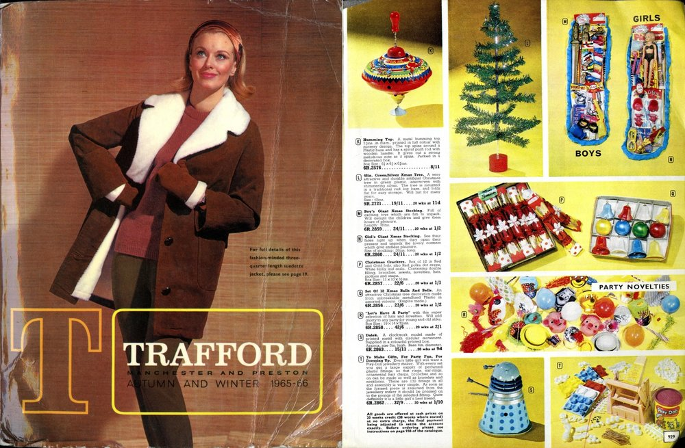 Trafford Autumn-Winter 1965-66, showing Codeg mechanical Dalek.