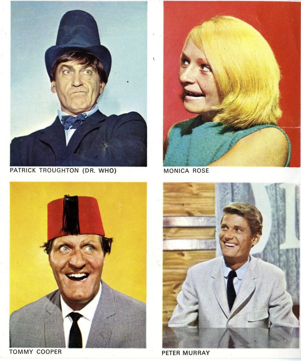 "Stickers from the TV Comic promotion, ""My Super Book of TV Stars"""