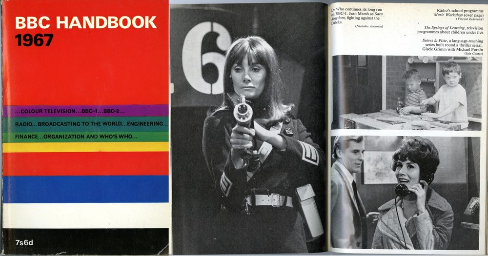 Photo of Jean Marsh as Sara Kingdom in the BBC Handbook 1967
