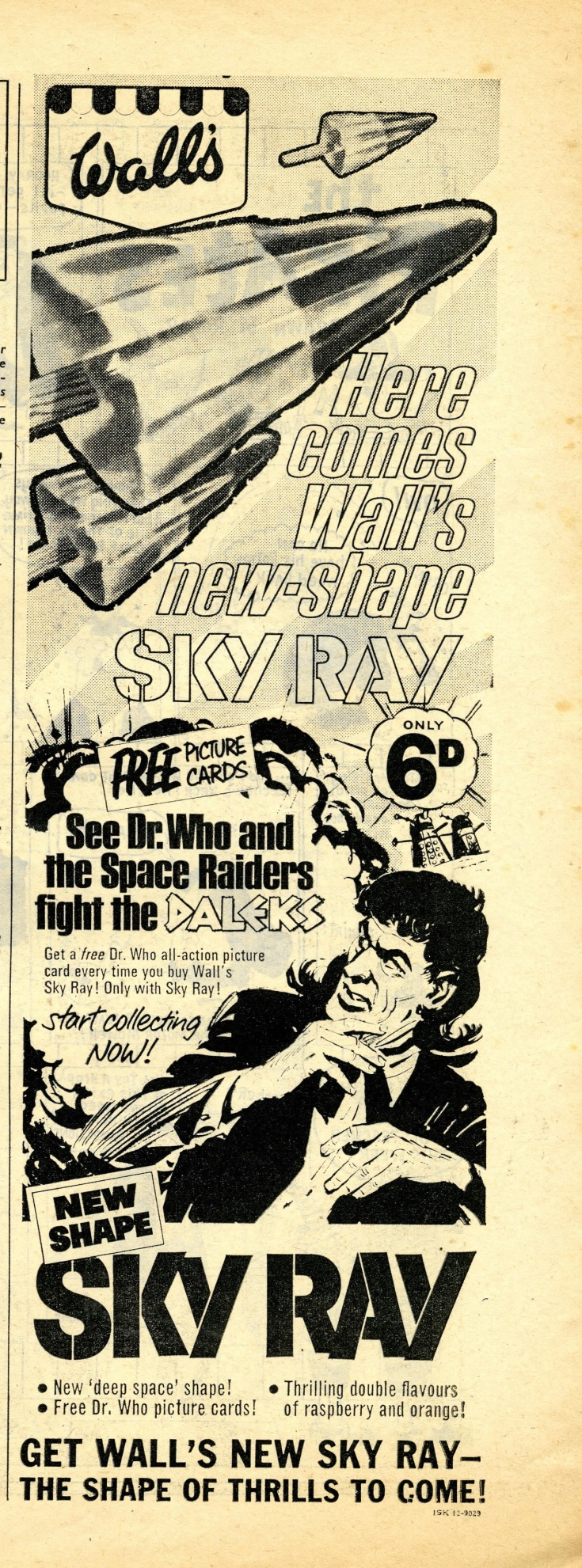 Walls Sky Ray ad. in Buster comic, 3 June 1967