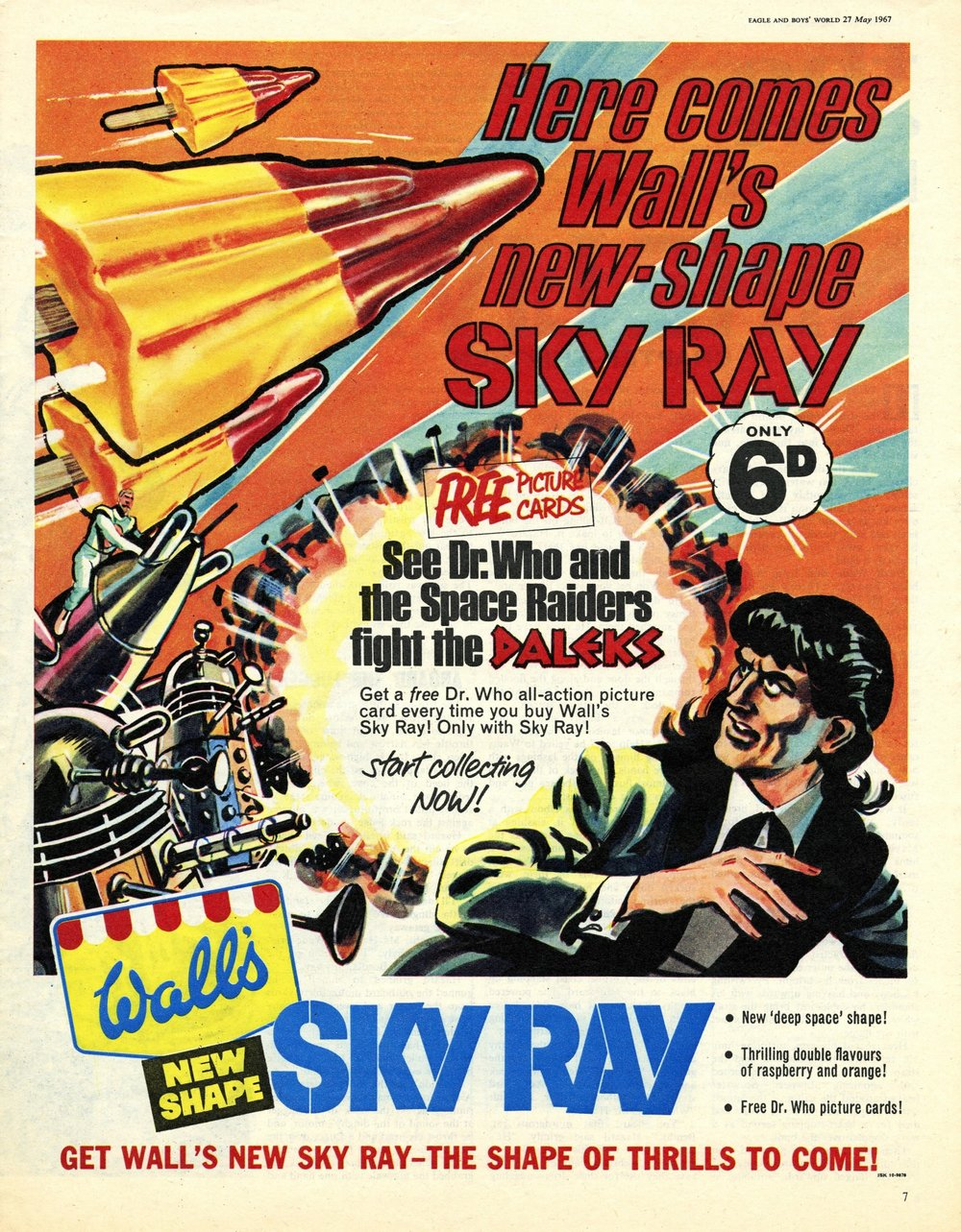 Ad. for Wall's Sky Ray in Eagle & Boys World, vol. 18, number 21, 27 May 1967