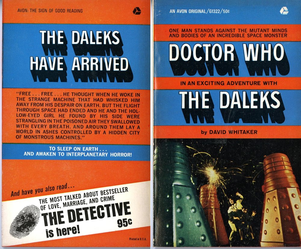 Hearst Corporation, Avon Books Division, US paperback reprint of Doctor Who: In an Exciting Adventure with the Daleks by David Whitaker
