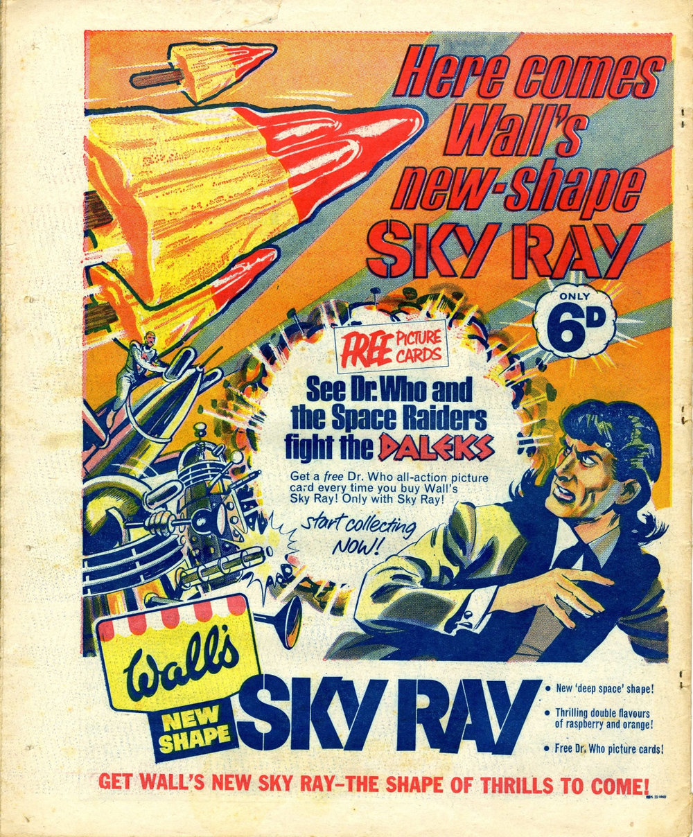 Ad. for the Wall's Sky Ray Dr. Who promotion in Smash comic, 27 May 1967