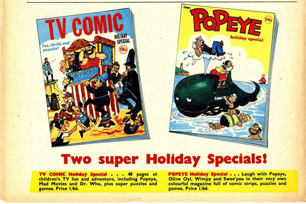 Ad. for the TV Comic Holiday Special in TV Comic number 816, 5 August 1967