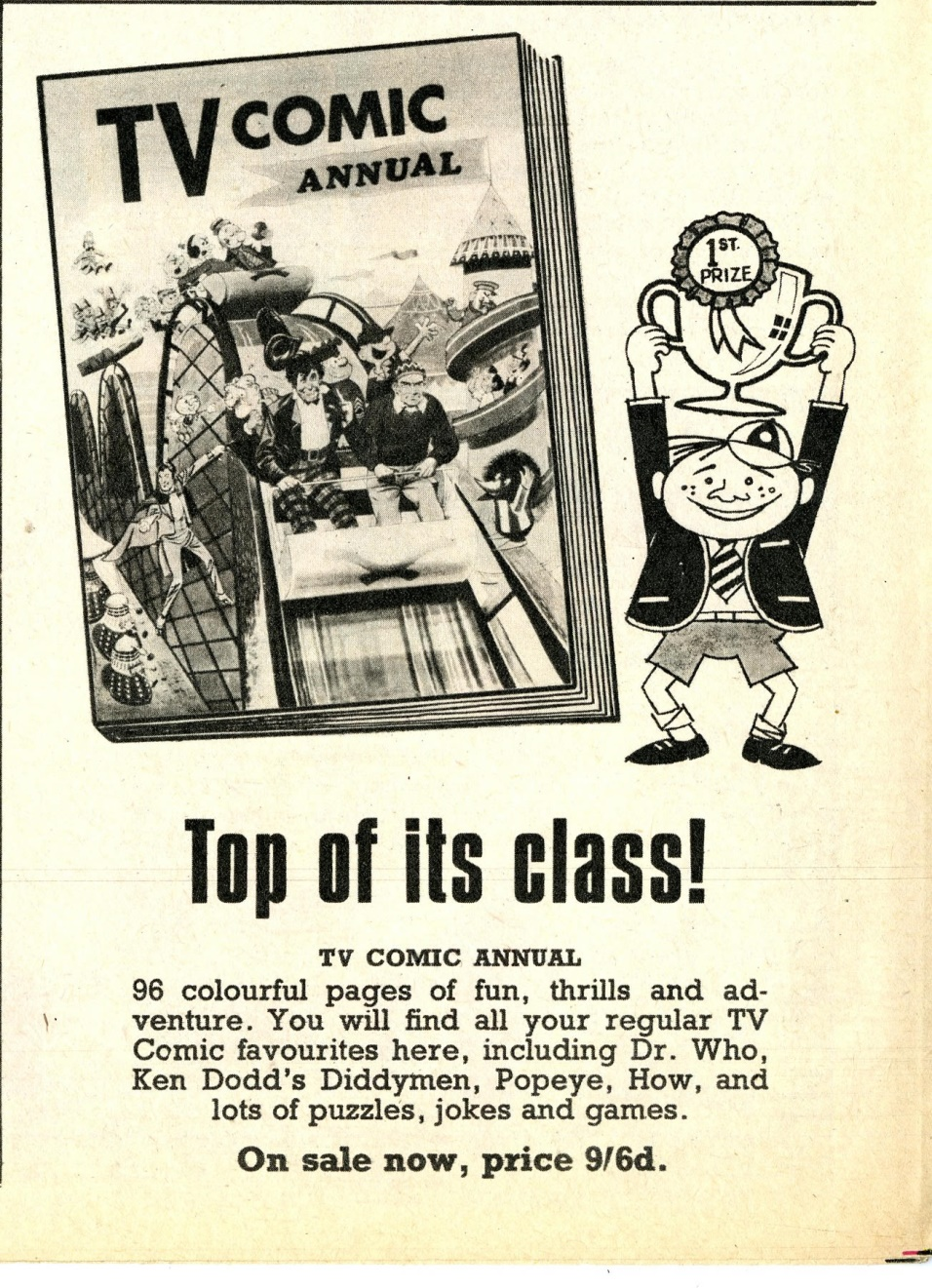 Ad. for the TV Comic Annual 1968 in TV Comic number 825, 7 October 1967
