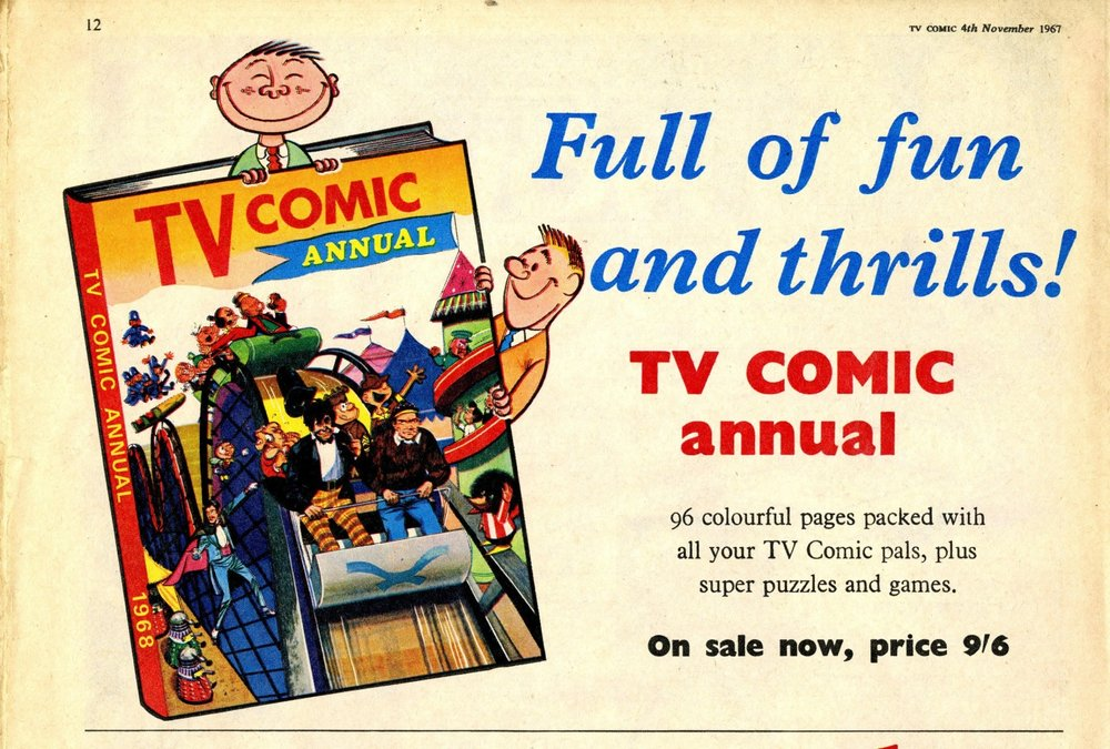 Ad. for the TV Comic Annual 1968 in TV Comic number 829, 4 November 1967