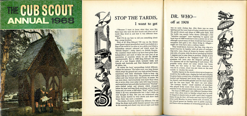 Stop the TARDIS, Dr. Who - I want to get off at 1908, in The Cub Scout Annual 1968