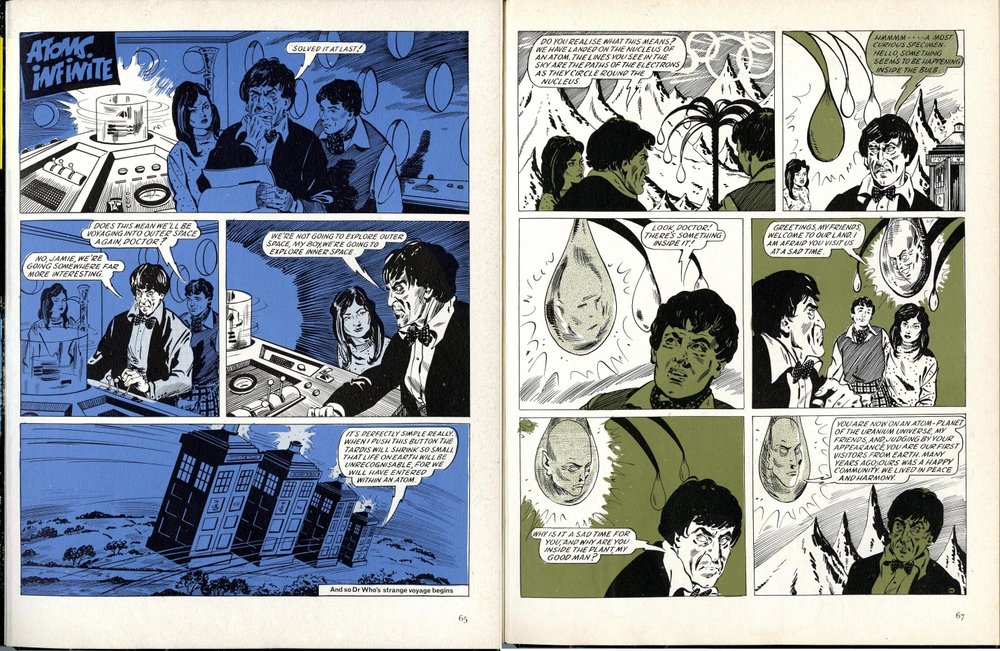 Atoms Infinite strip in The Dr. Who Annual 1968