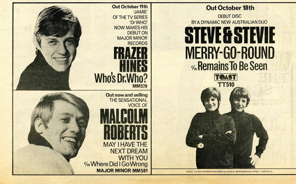 Ad. for Who's Dr. Who in New Musical Express, 19 October 1968