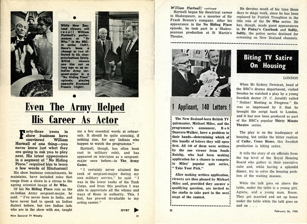 New Zealand TV Weekly, 26 February 1968