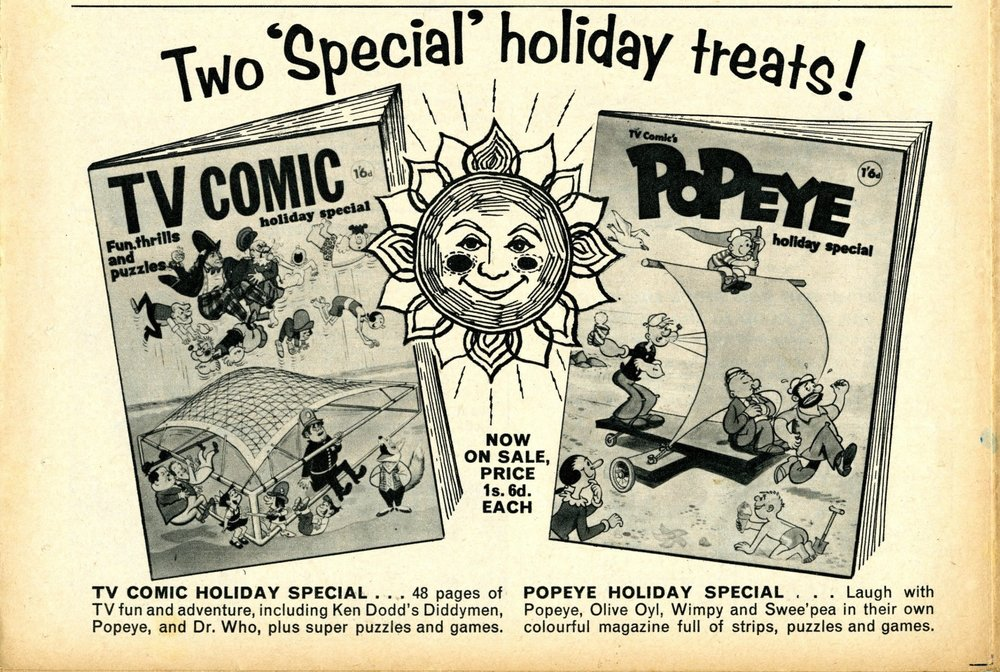 Ad. for the TV Comic Holiday Special in TV Comic, number 862, 22 June 1968