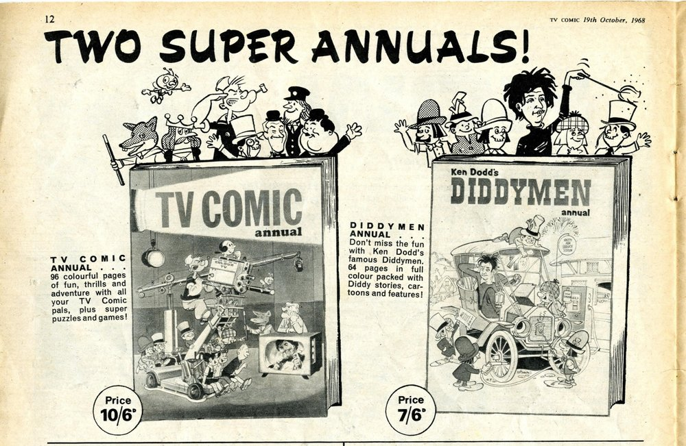 Ad. for the TV Comic Annual 1969 in TV Comic, number 879, 19 October 1968