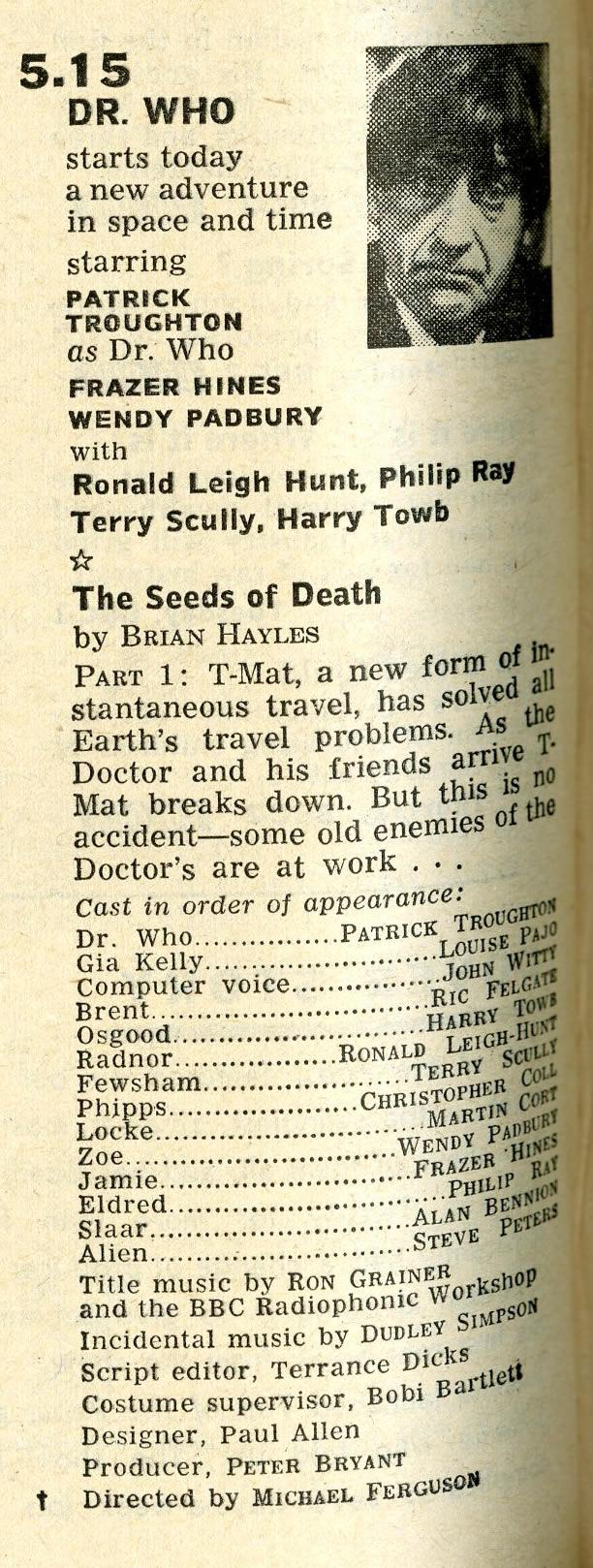 Radio Times, 25-31 January 1969