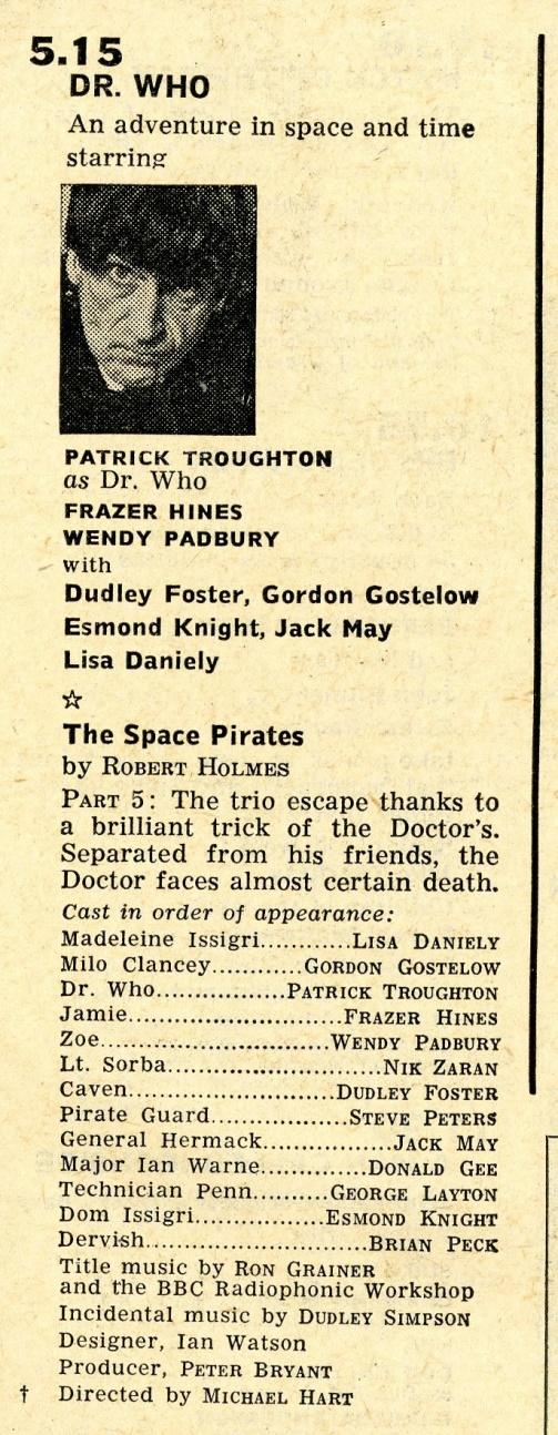 Radio Times, 5-11 April 1969